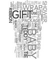 wrap adorable baby shower gifts text word cloud vector image vector image