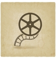 film roll old background vector image