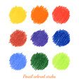Set of colorful dots vector image