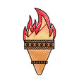 torch icon image vector image