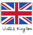 United Kindom flag doodle vector image