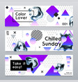 abstract banners with chrome elements vector image vector image