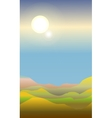 Abstract landscape of a dawn vector image vector image