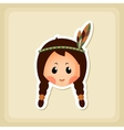 American Indian children icon Thanksgiving day vector image vector image