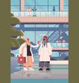 arab doctors in uniform arabic medical workers vector image vector image