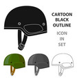 army helmet icon in cartoon style isolated on vector image vector image