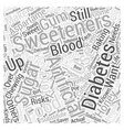 Artificial Sweeteners for Diabetics Word Cloud vector image