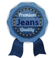 banners from denim vector image vector image