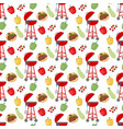 barbeque grill pattern vector image vector image