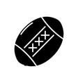 baseball ball black icon concept vector image