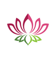 Beauty lotus flowers design logo Template vector image vector image