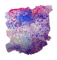 blue and pink watercolor stain vector image vector image