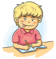 Boy Studying vector image vector image