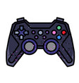 cartoon image of game icon gamepad symbol vector image vector image