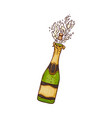 champagne bottle with vector image vector image