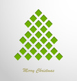 Christmas card with a green abstract tree vector image vector image