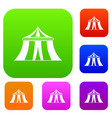 circus tent set collection vector image vector image