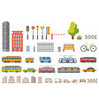city constructor design buildings road vector image vector image