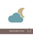 cloud moon icon meteorology weather vector image vector image