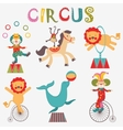 Colorful circus collection vector image vector image