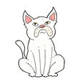 comic cartoon grumpy little dog vector image vector image