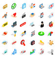 computer protection icons set isometric style vector image vector image