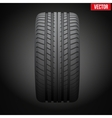 Dark background Realistic rubber tire symbol vector image vector image