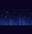dark sky with shining stars night sky background vector image vector image