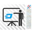dash board presentation person flat icon with vector image vector image
