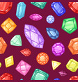 diamond gem and precious gemstone or vector image