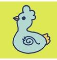 Doodle chicken vector image