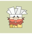 Flat icon of cute smiling chef from vector image vector image