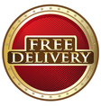 Free Delivery Emblem vector image vector image