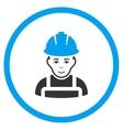 Glad Worker Icon vector image
