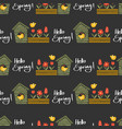 hello spring seamless pattern vector image vector image
