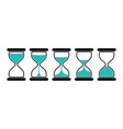 hourglass icons set vector image vector image