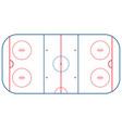 ice hockey rink vector image vector image