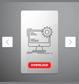 internet layout page site static line icon in vector image vector image