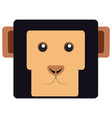 isolated monkey face vector image