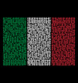 italian flag collage of medieval sword icons vector image vector image