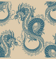 japanese dragon seamless pattern mythological vector image vector image