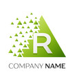 letter r logo symbol in colorful triangle vector image vector image