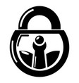 lock vintage icon simple black style vector image vector image