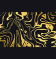 marble texture dynamic liquid pattern in gold vector image