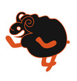 modern with cute black sheep vector image