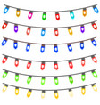Multi Color Christmas Light Strings vector image