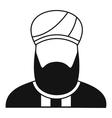Muslim preacher icon simple style vector image