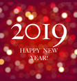 new year card with bokeh vector image