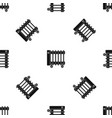 oil electric heater on wheels pattern seamless vector image vector image