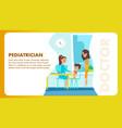 pediatrician doctor examination banner vector image